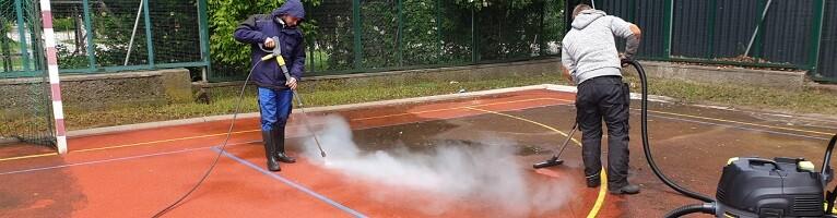 Allessauber Kim Tartbahnreinigung Kunststofflaufbahnreinigung