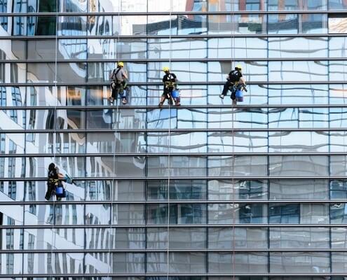 Glasfassadenreinigung Industriekletterer Wien Allessauber Kim