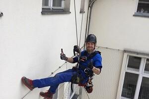 Höhenarbeit Industrieklettern Dachfensterreinigung Glasfassadenreinigung Allessauber 300 200
