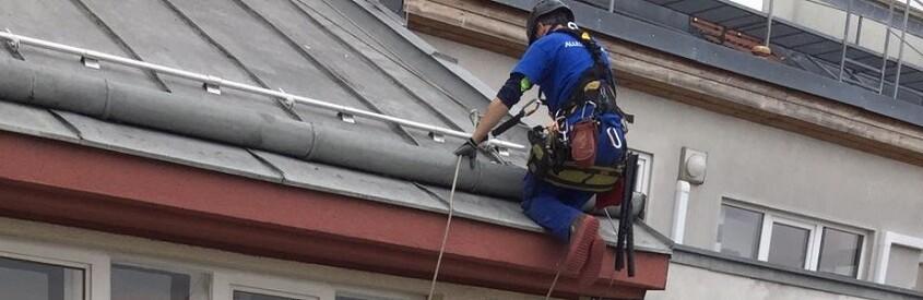 Höhenarbeiter Industriekletter Dachfensterreinigung Glasfassadenreinigung Allessauber Kim