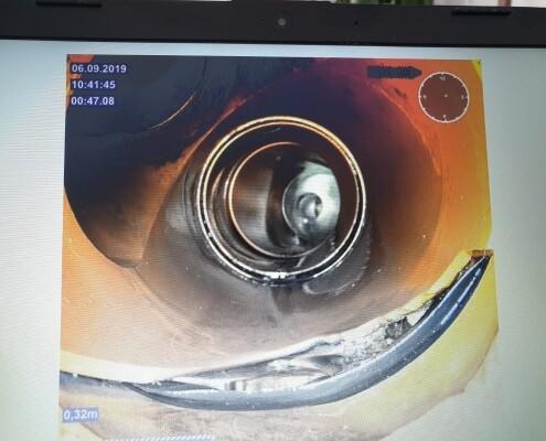 Rohrbruch PVC Abzweiger Durch Setzung verursacht Allessauber Kanalreinigung