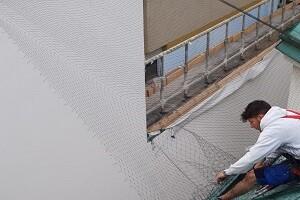 Taubenabwehr Spezialist Taubennetz Installation in der Arbeit 1040 Wien Allessauber Kim Schädlingsbekämpfung